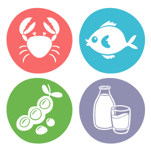 Iconos de alérgenos alimentarios