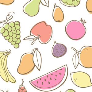 Estampado de frutas