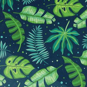 Estampado de hojas tropicales