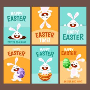 Tarjetas de Pascua con conejo de Pascua