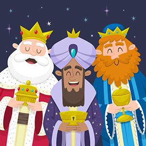 Retrato Tres Reyes Magos