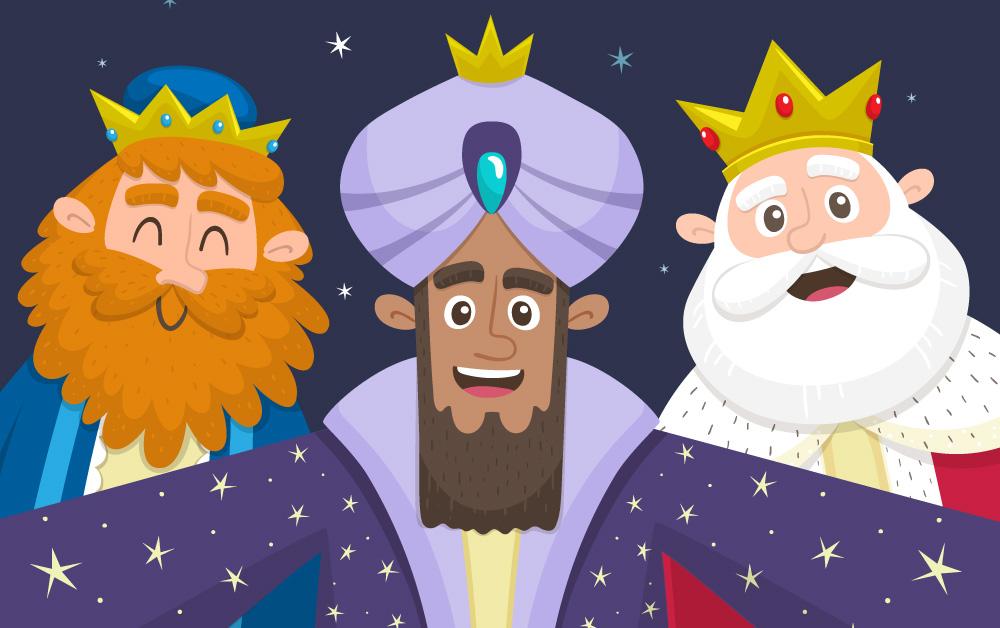 Selfie de los Tres Reyes Magos