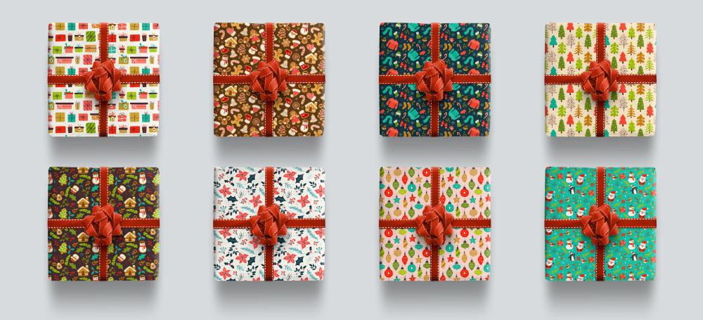Diseño de patrones navideños