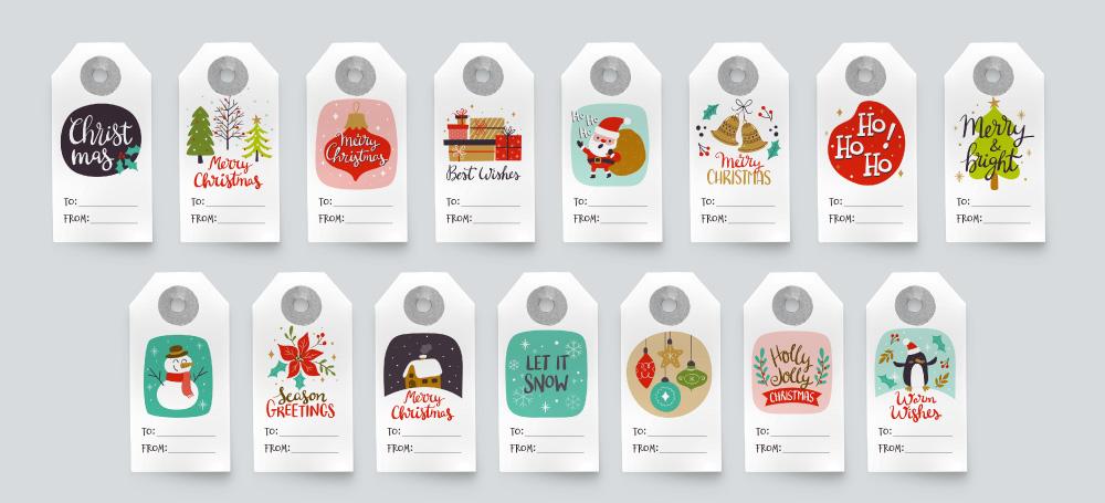 Etiquetas colgantes de Navidad