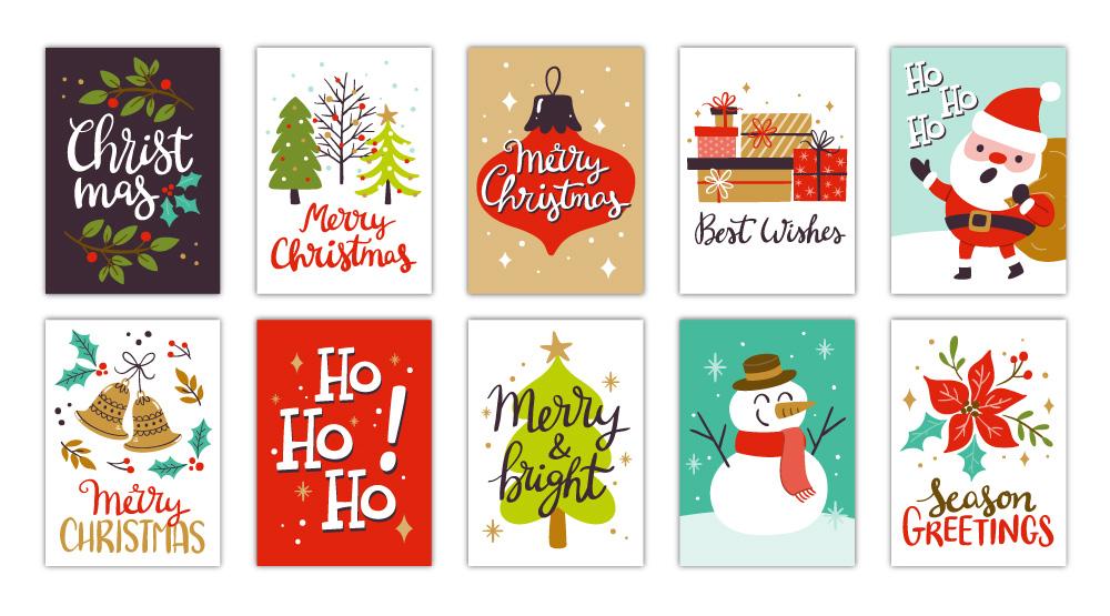 Tarjetas de Navidad Prediseñadas