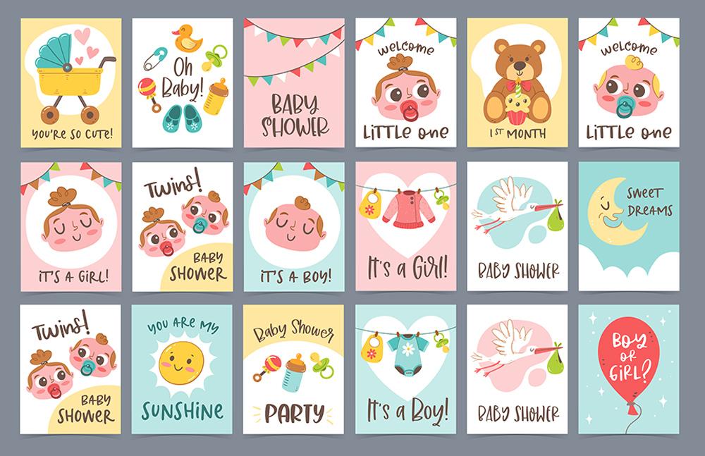 Coleccion tarjetas baby shower