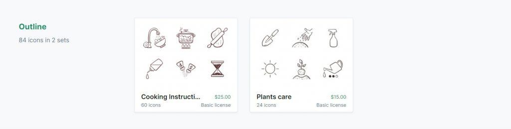 Iconos outline en iconfinder
