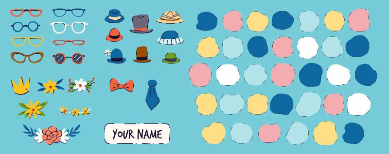 accesorios para crear avatares